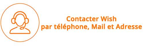 contacter service client wish par téléphone
