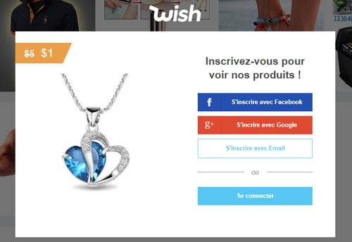 Wish.com Mon Compte