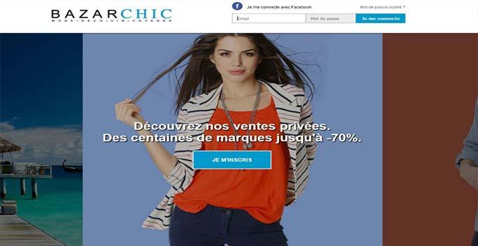 le portail en ligne de BazarChic