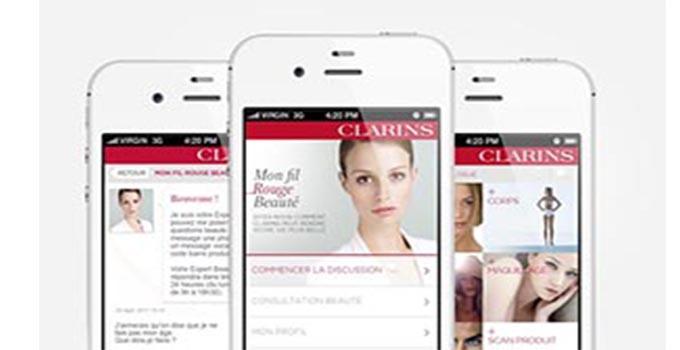 profiter de l'appliation mobile Clarins