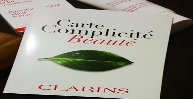 carte de complicité Clarins