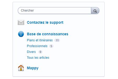 Accéder au support Mappy en ligne