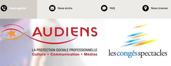 Contacter le service client Audiens