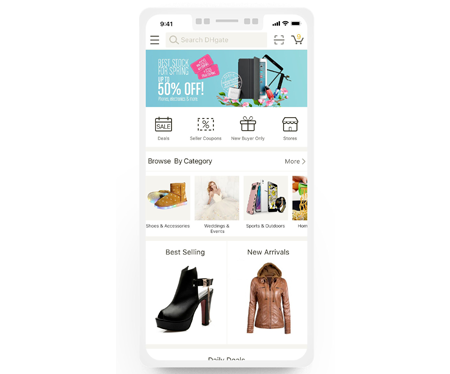 Application mobile DHgate