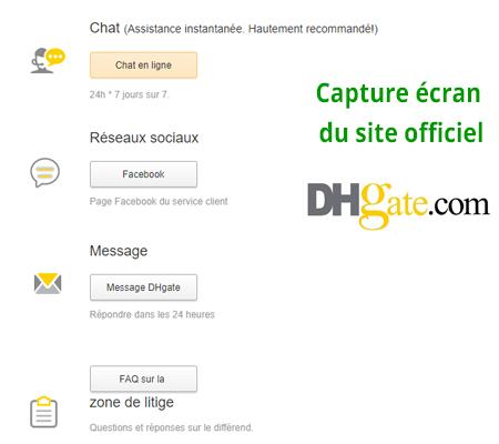 Joindre le service client dhgate.com en ligne