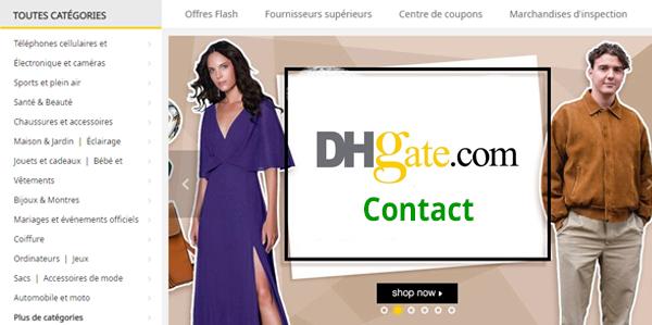 Contacter le service client DHgate