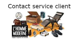 Homme moderne contact service client