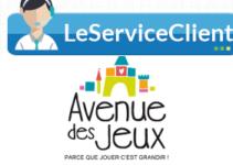 Contacter le service client Avenue des jeux