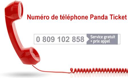 Contacter le service client Panda Ticket par téléphone