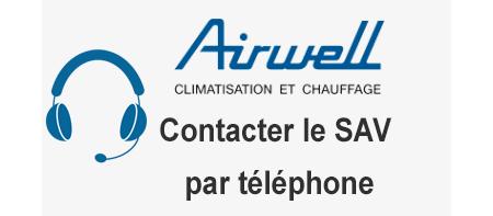 Joindre le service après vente Airwell par téléphone