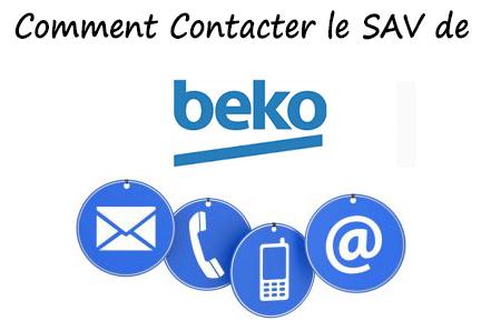 SAV Beko contact et réclamation (Téléphone, email, adresse)