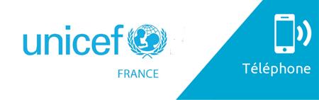 Numéro de téléphone gratuit et non surtaxé UNICEF France
