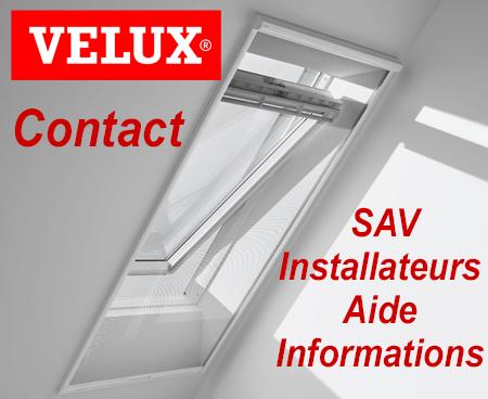 Velux contact, SAV et information par téléphone, mail et courrier postal.