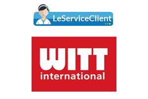 Witt contact et suivi de commande par téléphone, mail, formulaire en ligne et courrier postal.