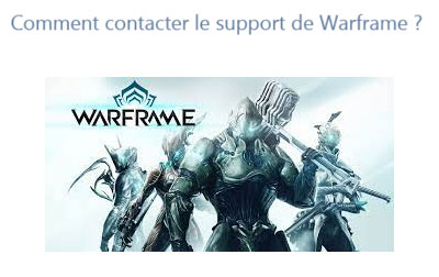 Contact support technique warframe