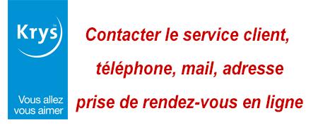 krys service client, contact par téléphone ou email, prise de rendez-vous en ligne...