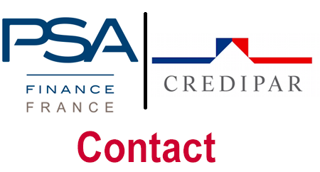 Entrer en contact avec le service client Credipar (PSA Finance France) par courrier (adresse), email (mon compte en ligne) et téléphone.