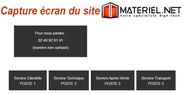 Contacter Materiel.net par téléphone