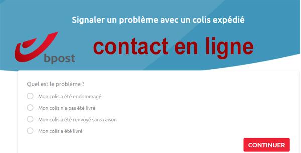 Joindre Bpost Belgique et signaler un problème en ligne.