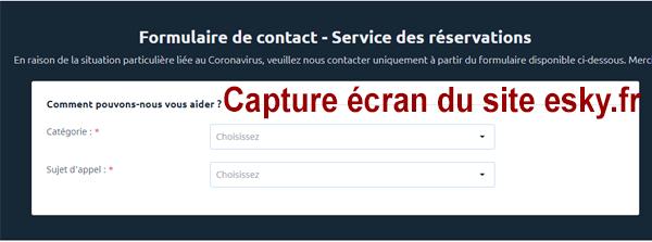 contacter le service client esky, déposer une réclamation et demander un remboursement par mail.
