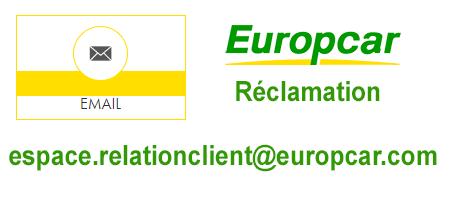 Réclamation et demande de remboursement Europcar par mail .