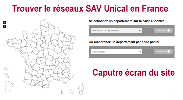 Trouver un SAV Unical en France